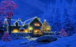 christmas cottage animated